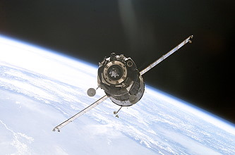 Arrival of Soyuz TMA-1 at the ISS