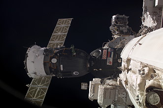 Arrival of Soyuz TMA-2 at the ISS