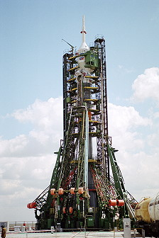 Soyuz TM-34 on launch pad