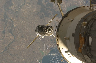 Arrival of Soyuz TMA-13 at the ISS
