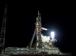 Soyuz TMA-17 on launch pad