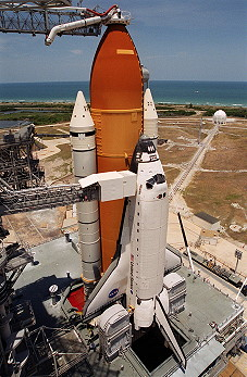 STS-101 on launch pad