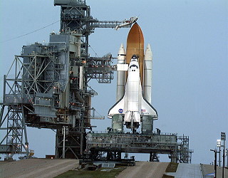 STS-103 on launch pad