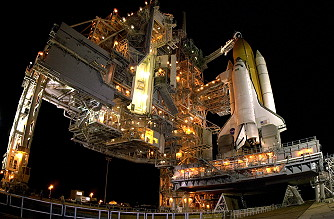 STS-112 on launch pad