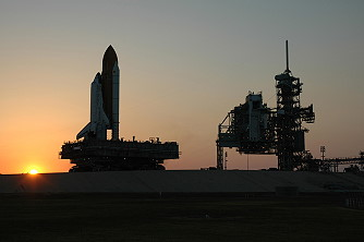 STS-121 rollout