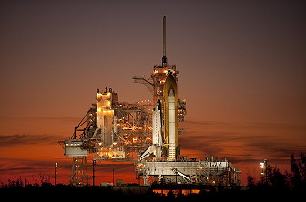 STS-129 on launch pad