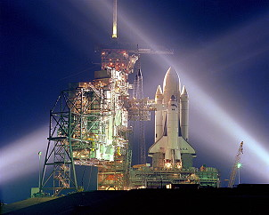STS-1 on launch pad