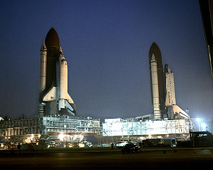 STS-35 and STS-38 on launch pad