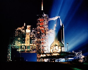 STS-3 on launch pad