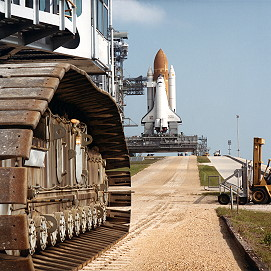 STS-41C rollout