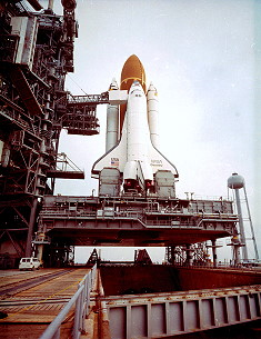 STS-51D on launch pad