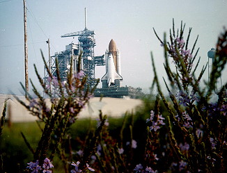 STS-51G on launch pad