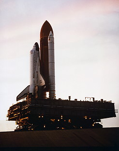 STS-61A rollout