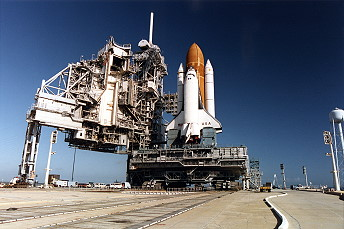 STS-62 on launch pad