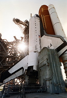 STS-65 on launch pad