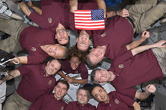 traditional in-flight photo STS-135 (with expedition 28