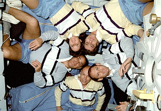 traditional in-flight photo STS-33