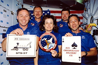 traditional in-flight photo STS-37