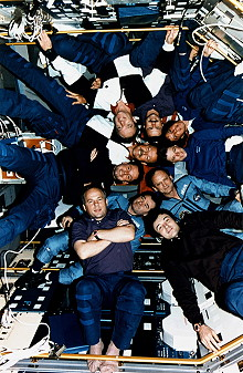 traditional in-flight photo STS-71