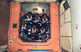 traditional in-flight photo STS-88