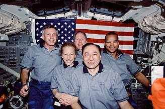 traditional in-flight photo STS-98