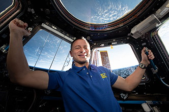 Andrew Morgan inside the Cupola