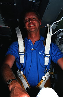 Hawley onboard Space Shuttle