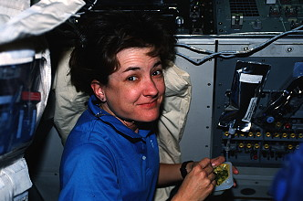 Godwin onboard Space Shuttle