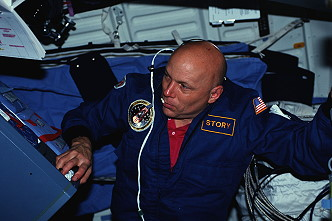 Musgrave onboard Space Shuttle