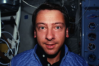 Walker onboard Space Shuttle