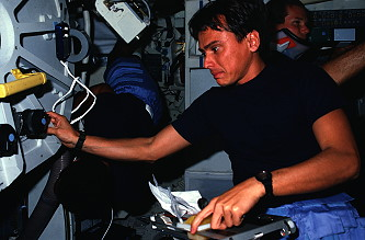 Chang-Diaz onboard Space Shuttle