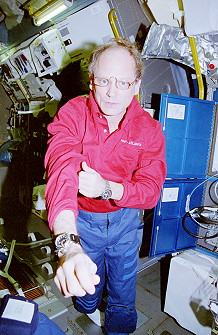 Thagard onboard Space Shuttle