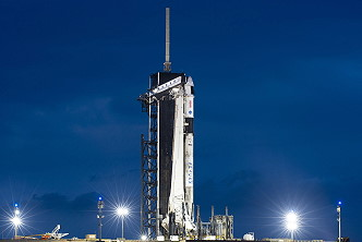SpaceX Crew-2 on the launch pad