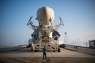 SpaceX Crew-2 rollout