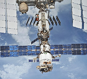 ISS after Soyuz MS-08 undocking