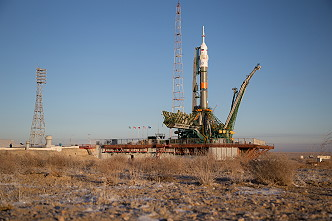 Soyuz MS-11 on the launch pad