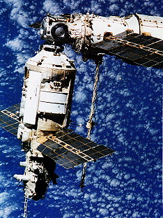 View from Soyuz TM-8 after undocking