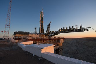 Soyuz TMA-07M on the launch pad