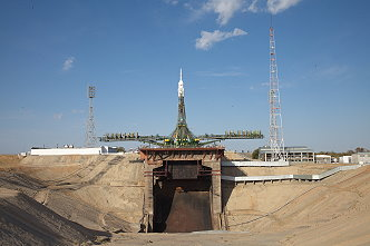 Soyuz TMA-14M on the launch pad