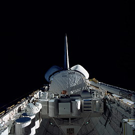 STS-41B in orbit