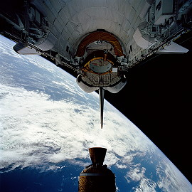 STS-54 in orbit
