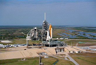 STS-75 on launch pad