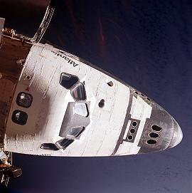 Atlantis seen from Mir
