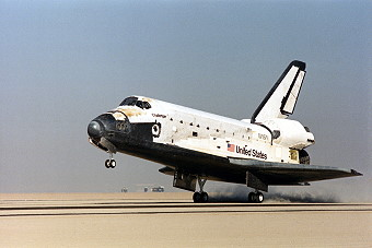 STS-61A landing